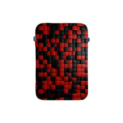Black Red Tiles Checkerboard Apple Ipad Mini Protective Soft Cases by BangZart