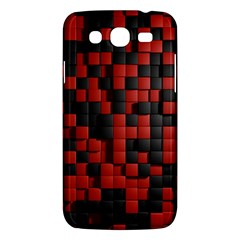 Black Red Tiles Checkerboard Samsung Galaxy Mega 5 8 I9152 Hardshell Case  by BangZart