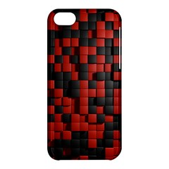 Black Red Tiles Checkerboard Apple Iphone 5c Hardshell Case by BangZart