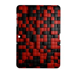 Black Red Tiles Checkerboard Samsung Galaxy Tab 2 (10 1 ) P5100 Hardshell Case  by BangZart
