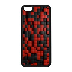 Black Red Tiles Checkerboard Apple Iphone 5c Seamless Case (black) by BangZart