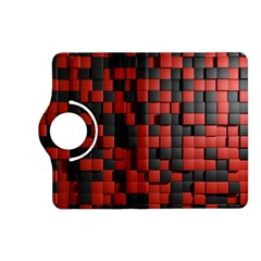 Black Red Tiles Checkerboard Kindle Fire Hd (2013) Flip 360 Case by BangZart