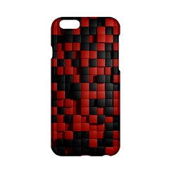 Black Red Tiles Checkerboard Apple Iphone 6/6s Hardshell Case