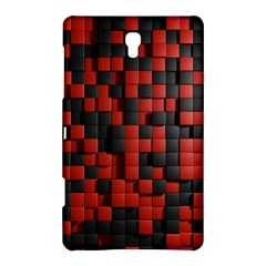 Black Red Tiles Checkerboard Samsung Galaxy Tab S (8 4 ) Hardshell Case