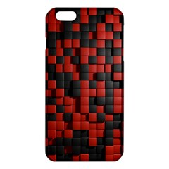 Black Red Tiles Checkerboard Iphone 6 Plus/6s Plus Tpu Case by BangZart