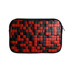 Black Red Tiles Checkerboard Apple Macbook Pro 13  Zipper Case
