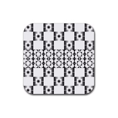 Pattern Background Texture Black Rubber Square Coaster (4 Pack)  by BangZart