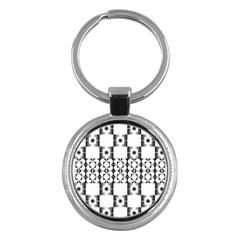 Pattern Background Texture Black Key Chains (round)  by BangZart