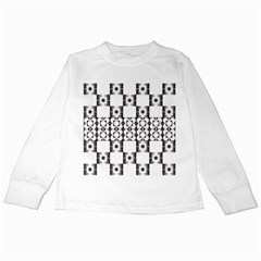 Pattern Background Texture Black Kids Long Sleeve T Shirts