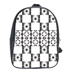 Pattern Background Texture Black School Bags(large)  by BangZart