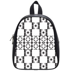 Pattern Background Texture Black School Bags (small)  by BangZart