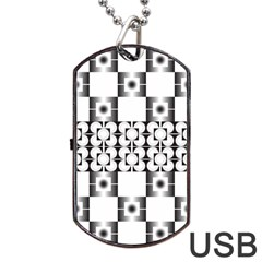 Pattern Background Texture Black Dog Tag Usb Flash (one Side) by BangZart