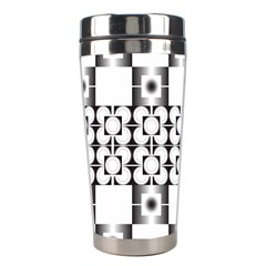Pattern Background Texture Black Stainless Steel Travel Tumblers by BangZart