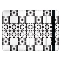 Pattern Background Texture Black Samsung Galaxy Tab Pro 12 2  Flip Case