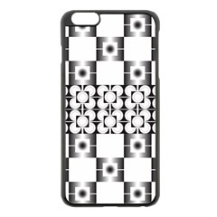 Pattern Background Texture Black Apple Iphone 6 Plus/6s Plus Black Enamel Case