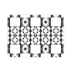 Pattern Background Texture Black Double Sided Flano Blanket (mini)  by BangZart