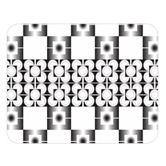 Pattern Background Texture Black Double Sided Flano Blanket (large)  by BangZart