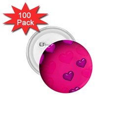 Background Heart Valentine S Day 1 75  Buttons (100 Pack)