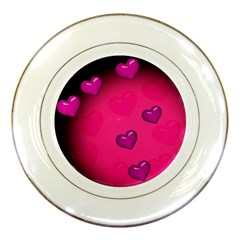 Background Heart Valentine S Day Porcelain Plates by BangZart