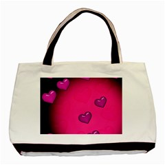 Background Heart Valentine S Day Basic Tote Bag by BangZart