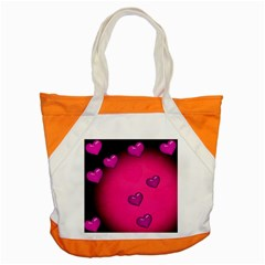 Background Heart Valentine S Day Accent Tote Bag by BangZart
