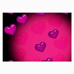 Background Heart Valentine S Day Large Glasses Cloth by BangZart