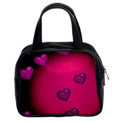 Background Heart Valentine S Day Classic Handbags (2 Sides) by BangZart