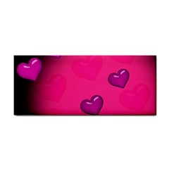 Background Heart Valentine S Day Cosmetic Storage Cases