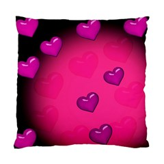 Background Heart Valentine S Day Standard Cushion Case (two Sides) by BangZart
