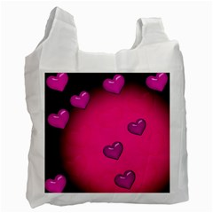 Background Heart Valentine S Day Recycle Bag (two Side)  by BangZart