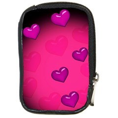 Background Heart Valentine S Day Compact Camera Cases by BangZart