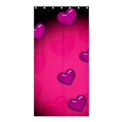 Background Heart Valentine S Day Shower Curtain 36  X 72  (stall)  by BangZart
