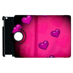 Background Heart Valentine S Day Apple Ipad 2 Flip 360 Case by BangZart