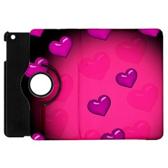 Background Heart Valentine S Day Apple Ipad Mini Flip 360 Case by BangZart