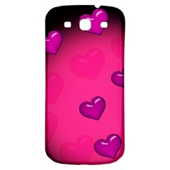Background Heart Valentine S Day Samsung Galaxy S3 S Iii Classic Hardshell Back Case by BangZart