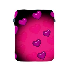 Background Heart Valentine S Day Apple Ipad 2/3/4 Protective Soft Cases by BangZart