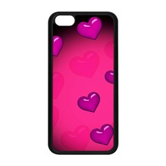 Background Heart Valentine S Day Apple Iphone 5c Seamless Case (black)