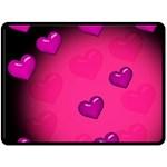 Background Heart Valentine S Day Double Sided Fleece Blanket (Large)  80 x60 Blanket Front