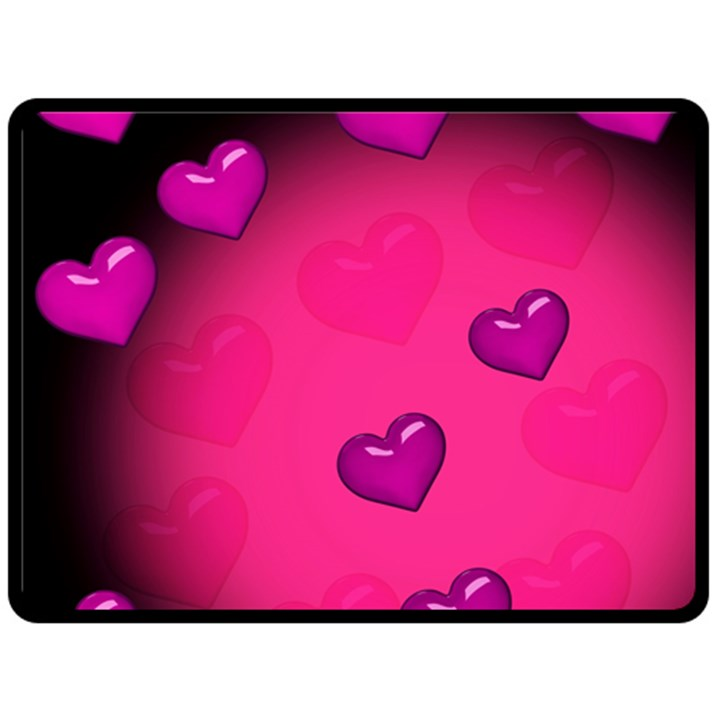 Background Heart Valentine S Day Double Sided Fleece Blanket (Large)