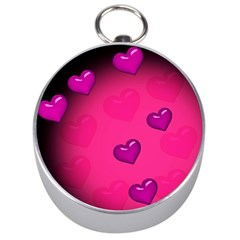 Background Heart Valentine S Day Silver Compasses by BangZart