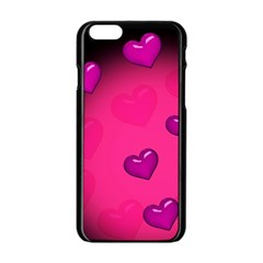 Background Heart Valentine S Day Apple Iphone 6/6s Black Enamel Case by BangZart