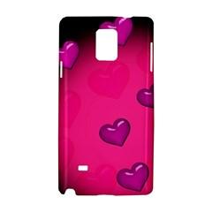 Background Heart Valentine S Day Samsung Galaxy Note 4 Hardshell Case by BangZart