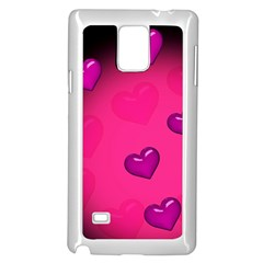Background Heart Valentine S Day Samsung Galaxy Note 4 Case (white) by BangZart