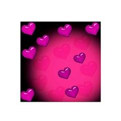 Background Heart Valentine S Day Satin Bandana Scarf by BangZart