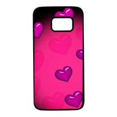 Background Heart Valentine S Day Samsung Galaxy S7 Black Seamless Case
