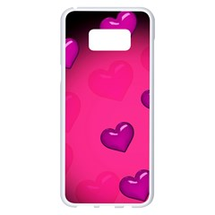Background Heart Valentine S Day Samsung Galaxy S8 Plus White Seamless Case