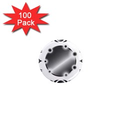 Metal Circle Background Ring 1  Mini Magnets (100 Pack)