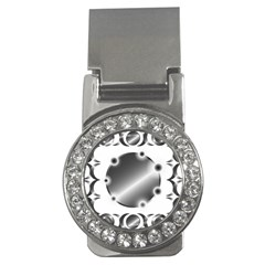 Metal Circle Background Ring Money Clips (cz)