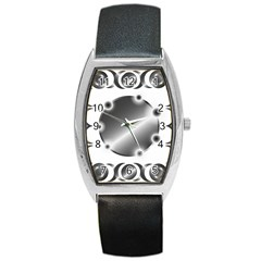 Metal Circle Background Ring Barrel Style Metal Watch