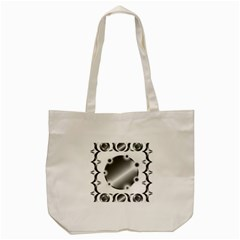 Metal Circle Background Ring Tote Bag (cream) by BangZart